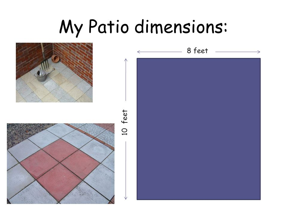 My Patio dimensions: 8 feet 10 feet