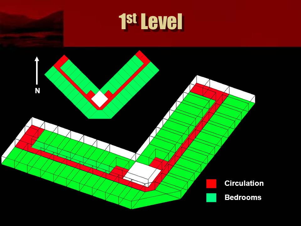 1 st Level Circulation Bedrooms N
