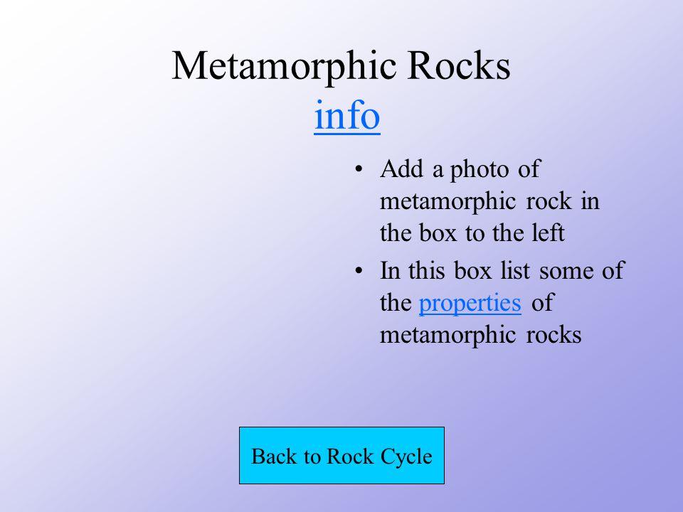 Metamorphic Rocks HEAT PRESSURE