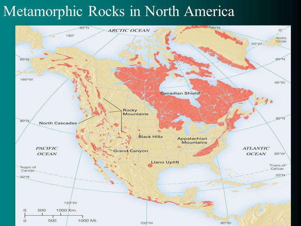 Metamorphic Rocks in North America