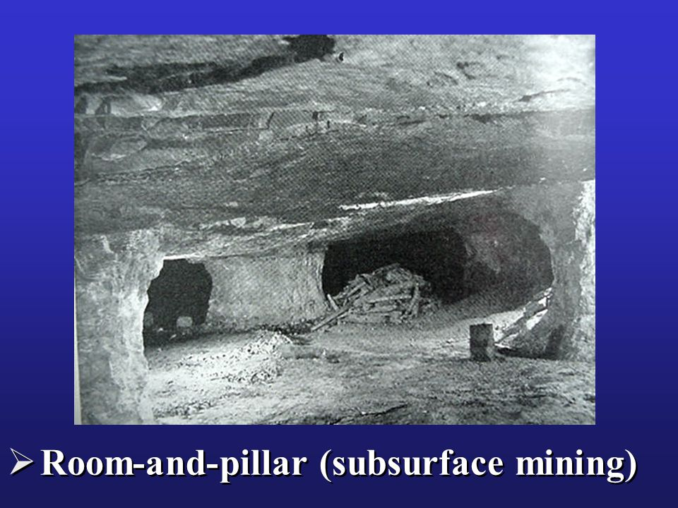  Room-and-pillar (subsurface mining)