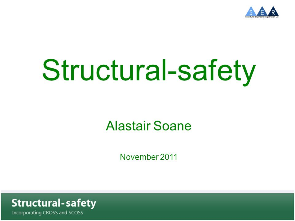 Structural-safety International Engineers Australia close to joining the scheme Co-operation with ABC Meldpunt in Holland BCA in Singapore are interested Malaysian authorities have made enquiries CEBC are planning an EU wide defects reporting system and are monitoring CROSS concept is for an International Group of organisations who run similar programmes to share information through a common data base.