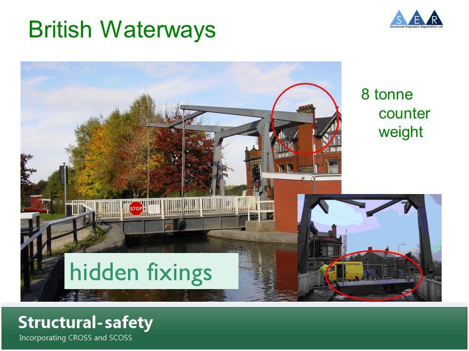 British Waterways 8 tonne counter weight hidden fixings