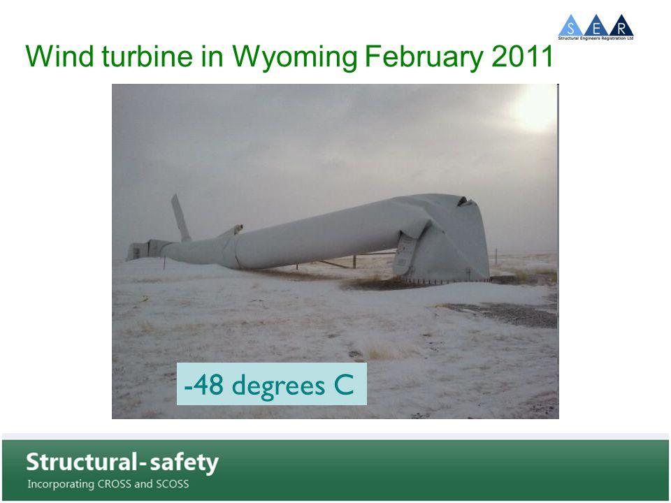 Wind turbine in Wyoming February 2011 -48 degrees C