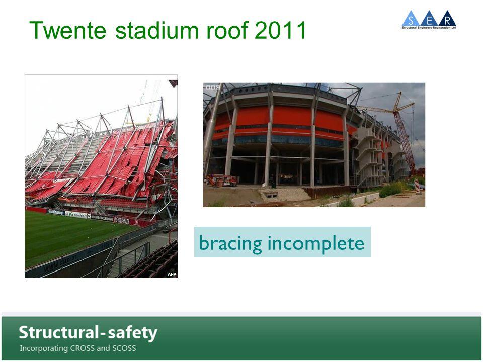 Twente stadium roof 2011 bracing incomplete