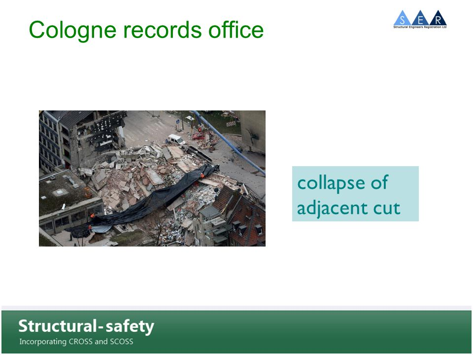Cologne records office collapse of adjacent cut