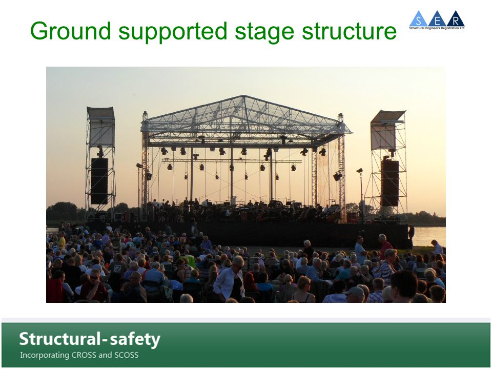 Ground supported stage structure