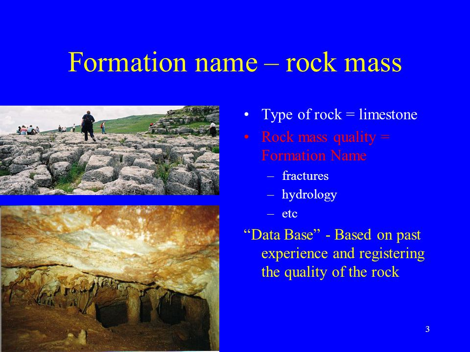 4 Rock mass Usages: tunneling mining aggregate in concrete aggregate in asphalt dimension stone foundation rock Good rock Bra berg For what???