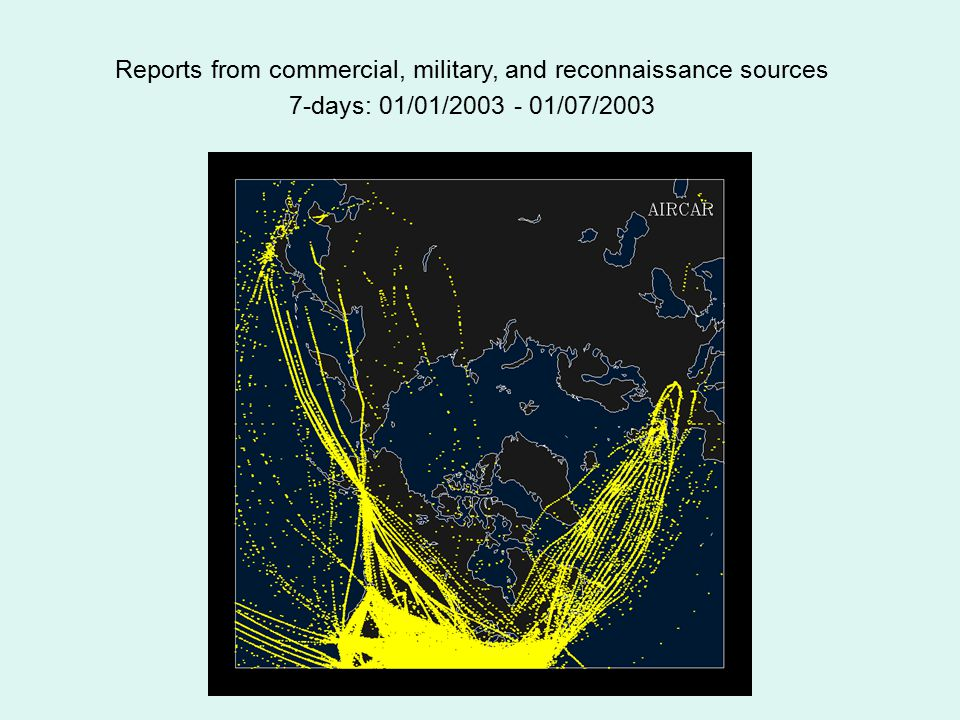 Reports from commercial, military, and reconnaissance sources 7-days: 01/01/2003 - 01/07/2003