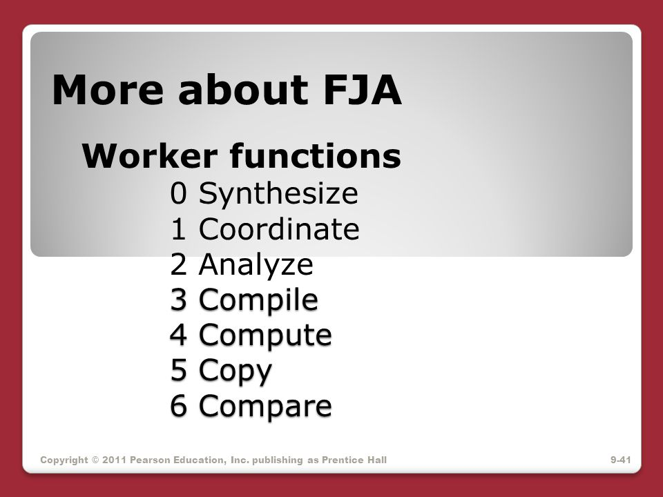 3 Compile 4 Compute 5 Copy 6 Compare More about FJA Worker functions 0 Synthesize 1 Coordinate 2 Analyze 3 Compile 4 Compute 5 Copy 6 Compare Copyrigh
