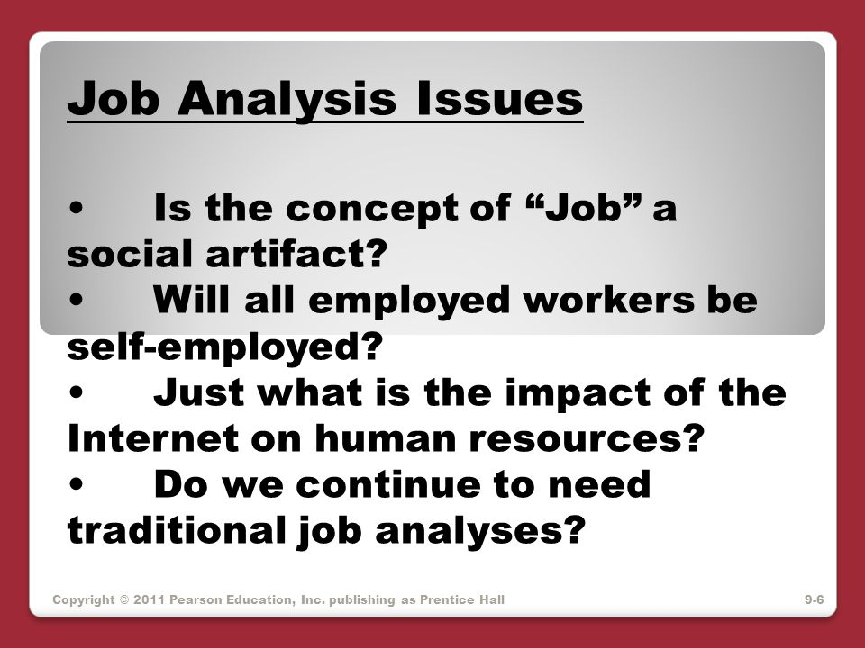 There are many ways to analyze jobs.
