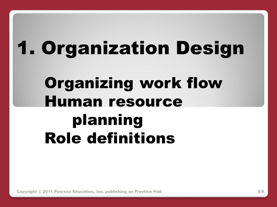 FJA – functional job analysis Position – job title Duty: general responsibility Task: exactly what gets done What – to/for whom, to/for what Why – purpose of action How – tools, instructions Worker Functions – Data People Things Copyright © 2011 Pearson Education, Inc.