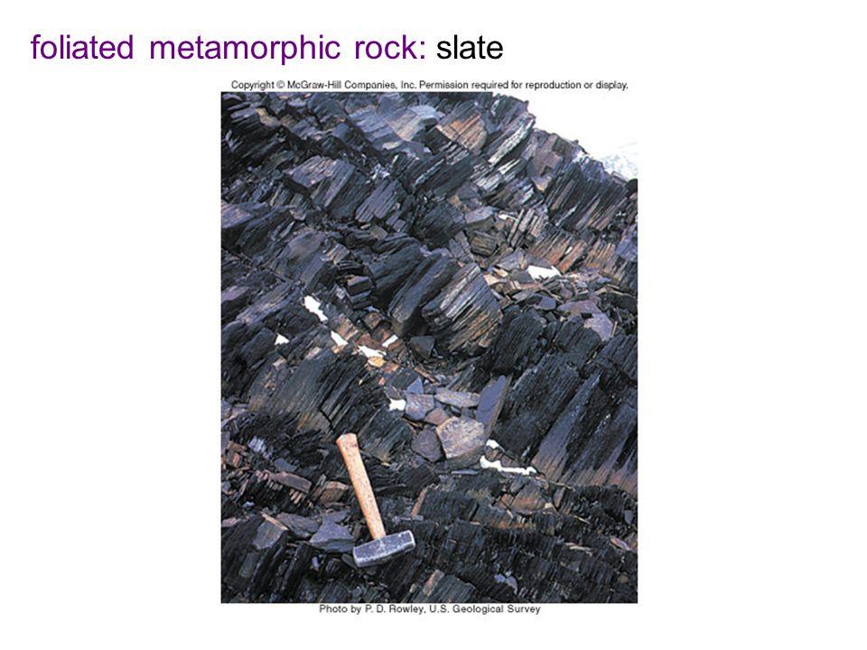 foliated metamorphic rock: slate