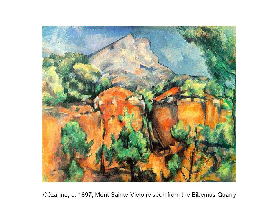 Cézanne, c. 1897; Mont Sainte-Victoire seen from the Bibemus Quarry