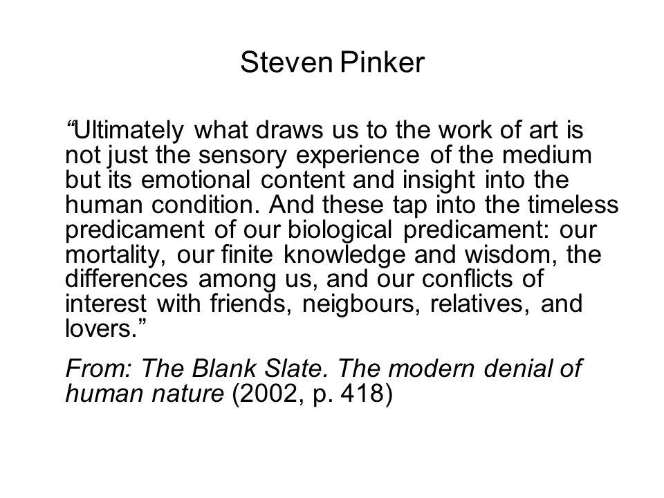 Features attributed to art: 'estrangement' 'tension' 'sense of reality' 'realism' 'mimesis' 'life-likeness' 'originality' … etc.
