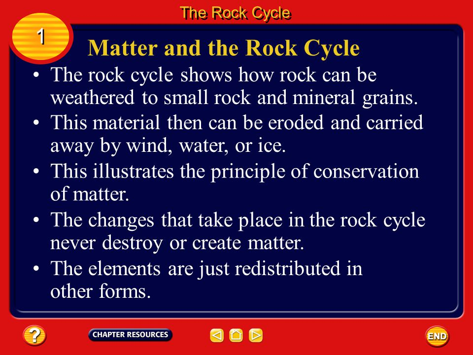 The igneous rock then could be broken into fragments by weathering and erode away. The fragments might later compact and cement together to form anoth