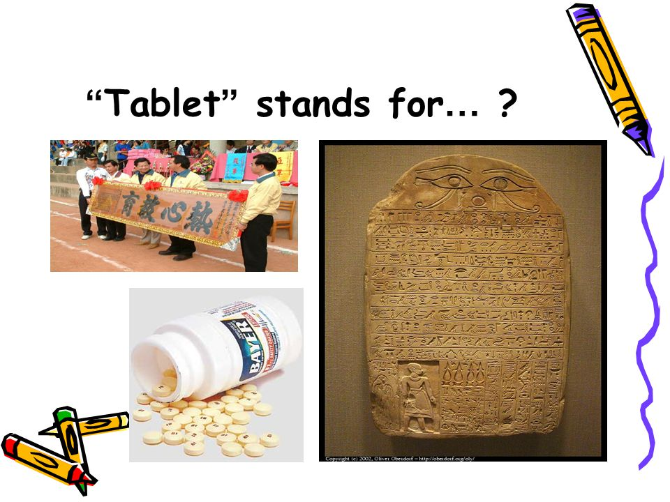 Tablet stands for …