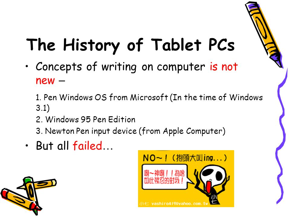 The History of Tablet PCs Bert Keely – the dreamer of Tablet PCs.