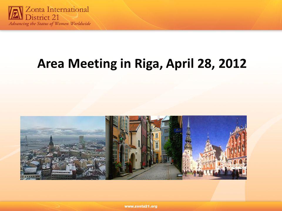 Area Meeting in Riga, April 28, 2012