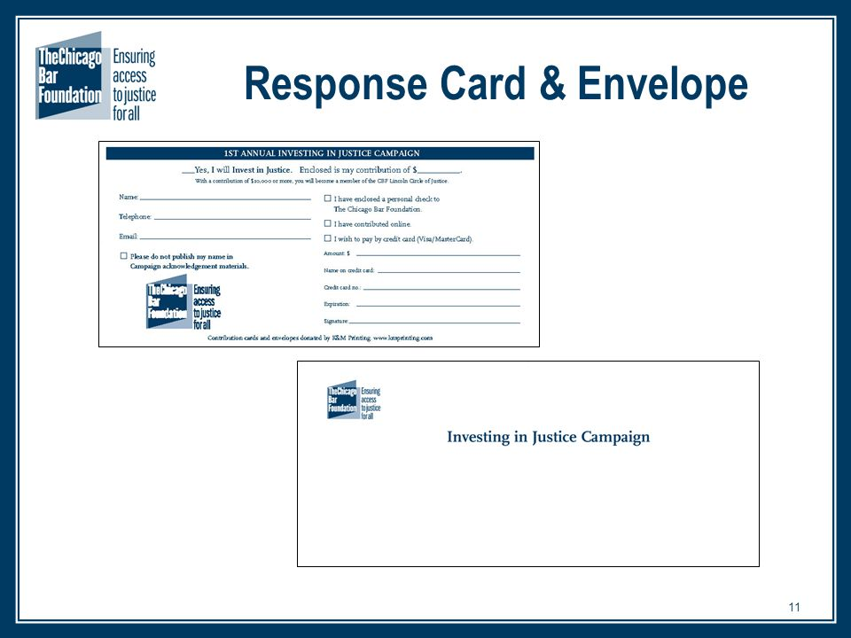 11 Response Card & Envelope
