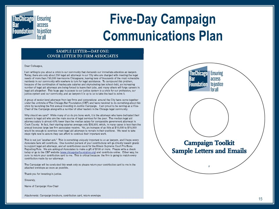 15 Five-Day Campaign Communications Plan