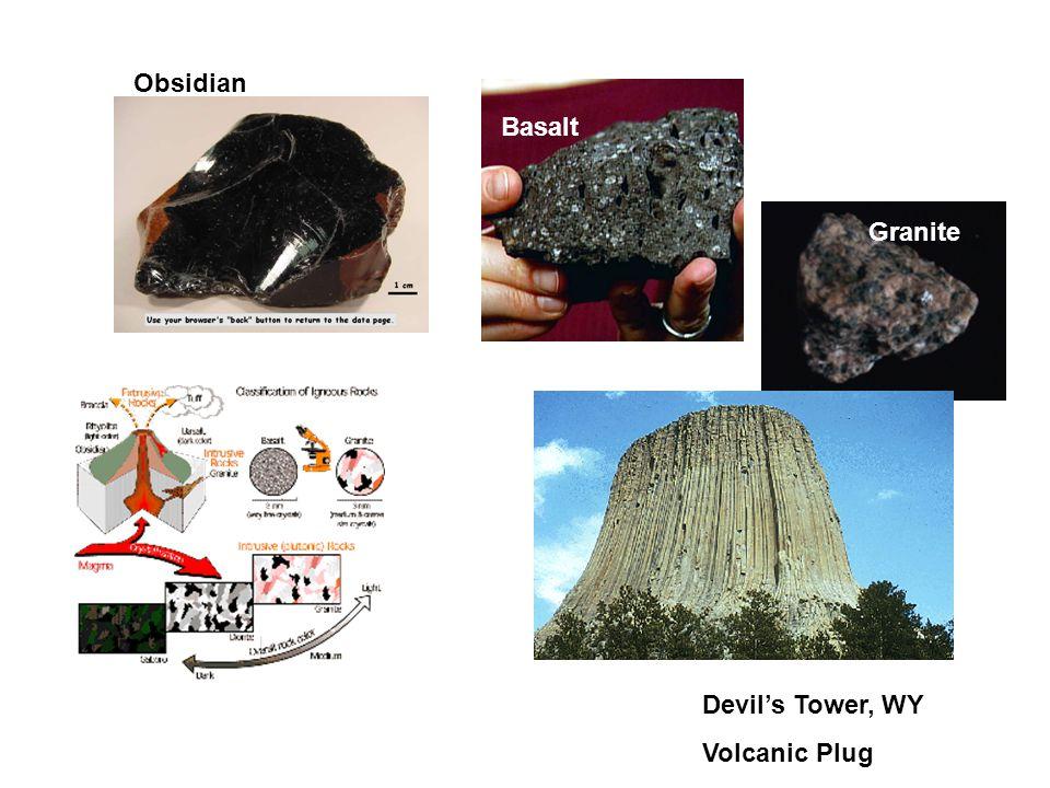 Obsidian Basalt Granite Devil's Tower, WY Volcanic Plug