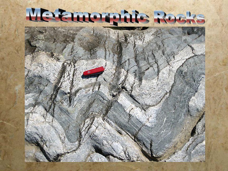 Foliated Metamorphic Rock Examples: SchistSchist SlateSlate PhyllitePhyllite