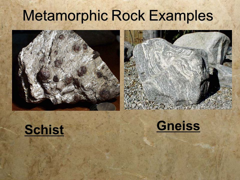 Metamorphic meta  meta = to change morph  morph = form Parent rocks  Metamorphic rocks are formed from Parent rocks (pre-existing rocks) Igneous, sedimentary, or other metamorphic  Parent rocks can be Igneous, sedimentary, or other metamorphic rocks.