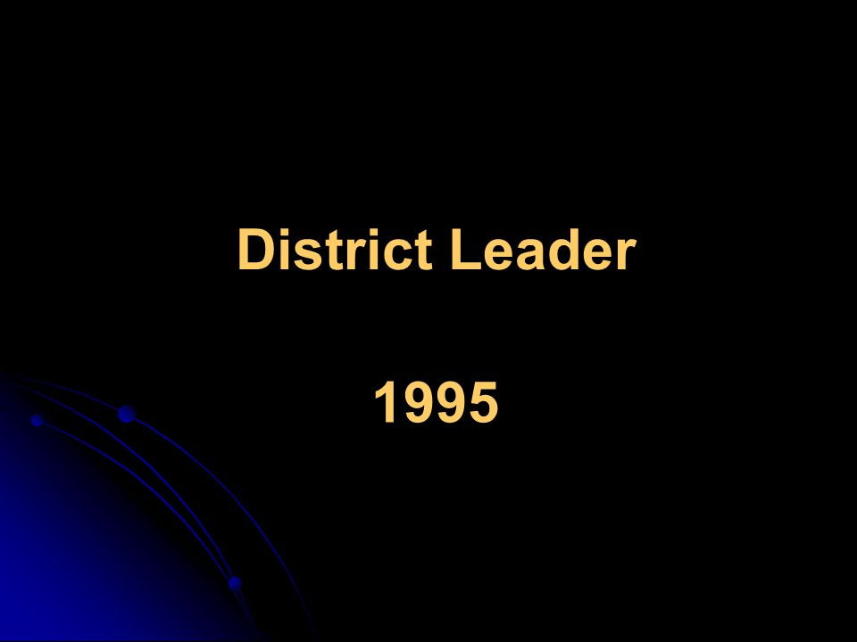 District Leader 1995