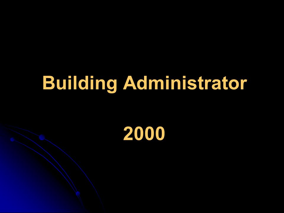Building Administrator 2000