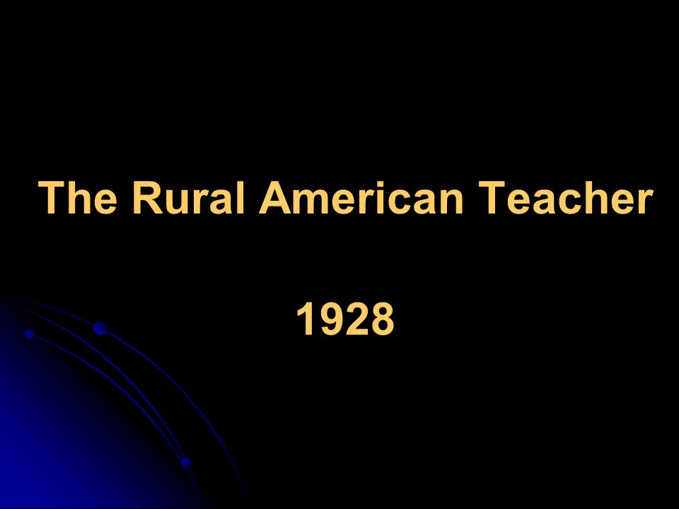 The Rural American Teacher 1928