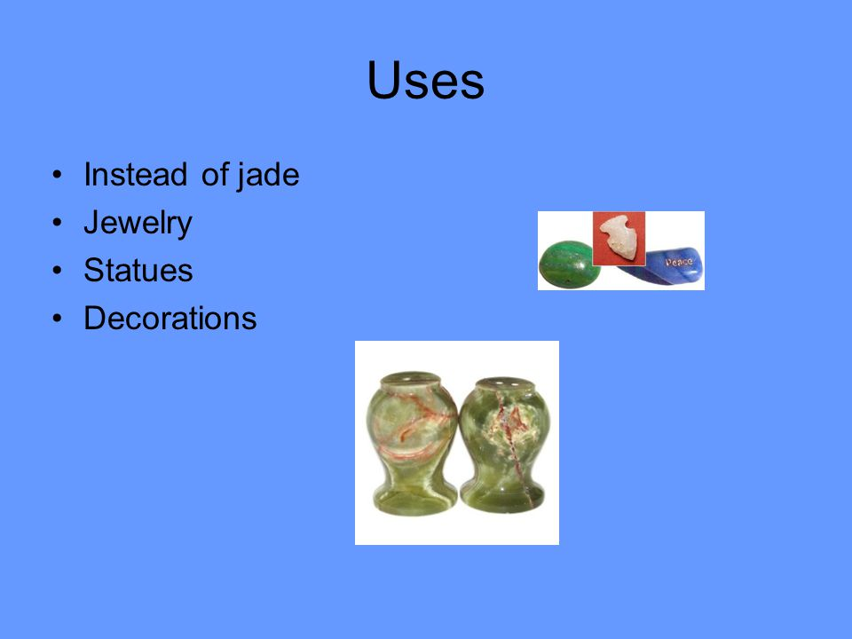 Uses Instead of jade Jewelry Statues Decorations