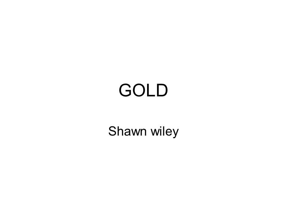 GOLD Shawn wiley