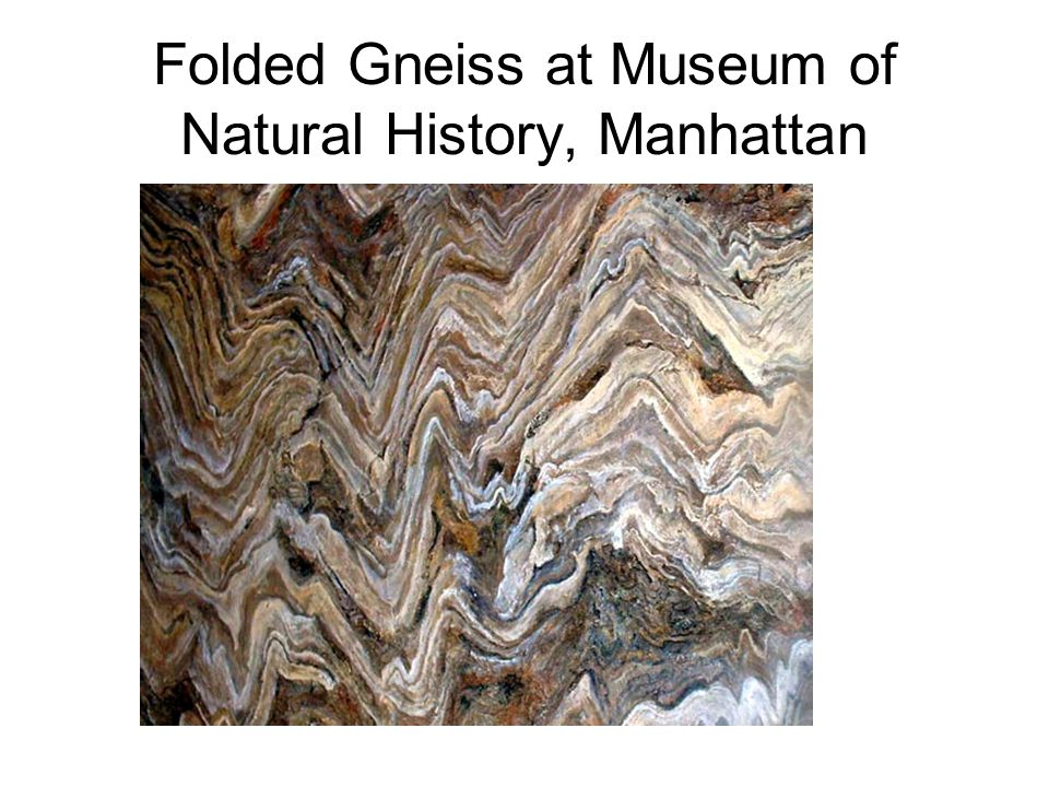 Folded Gneiss at Museum of Natural History, Manhattan