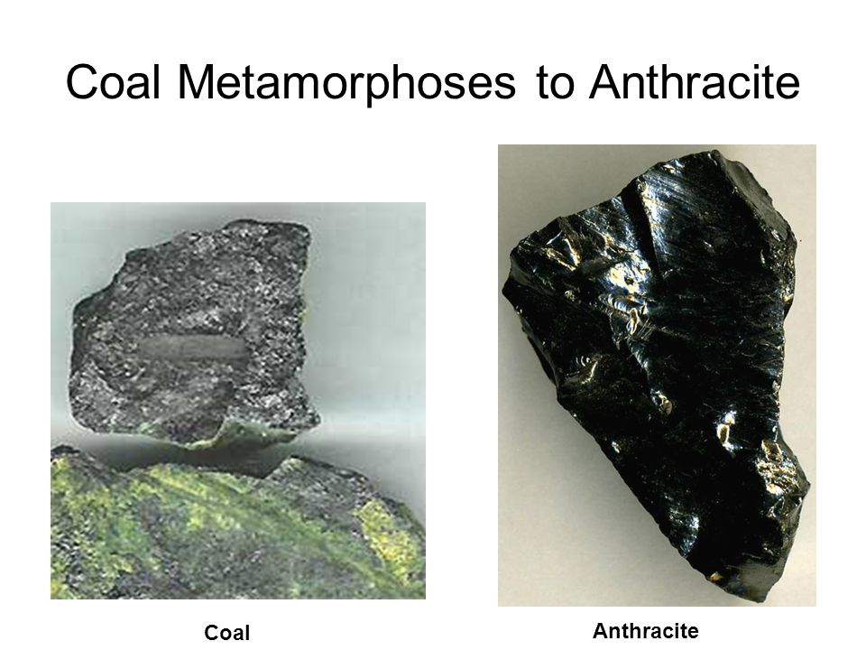 Coal Metamorphoses to Anthracite Coal Anthracite