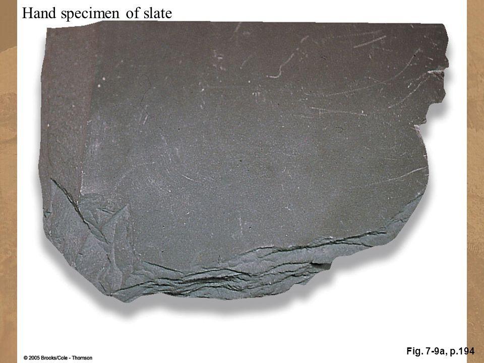 Hand specimen of slate Fig. 7-9a, p.194