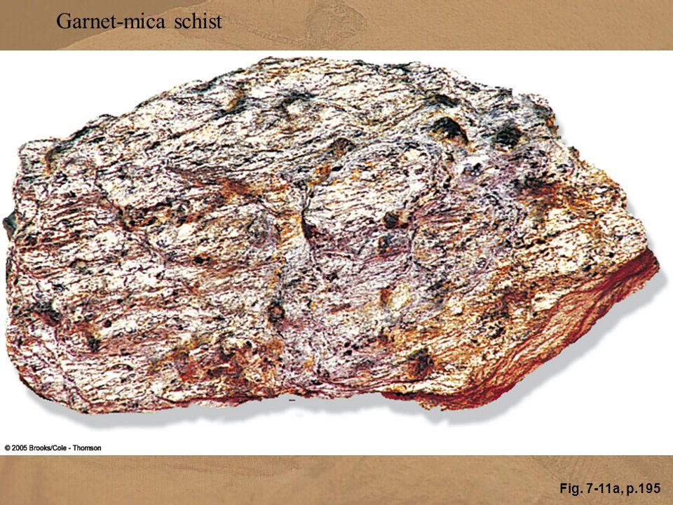 Fig. 7-11a, p.195 Garnet-mica schist