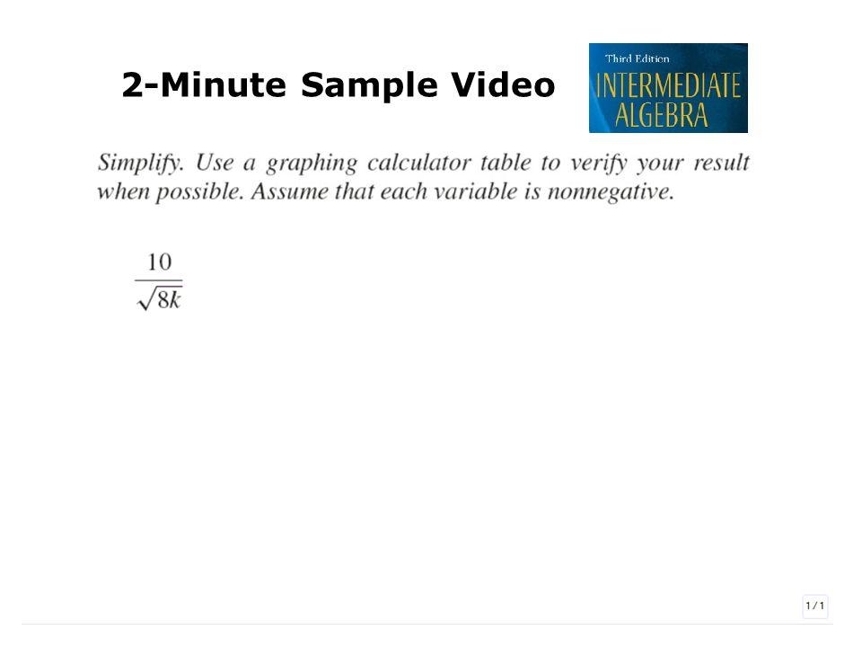 2-Minute Sample Video