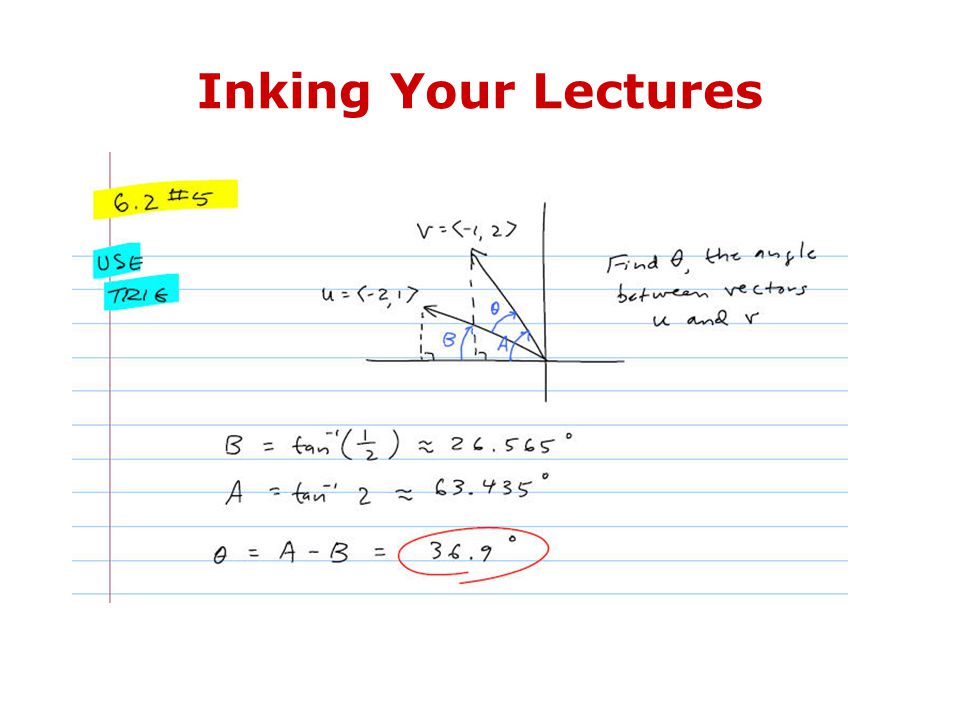 Inking Your Lectures