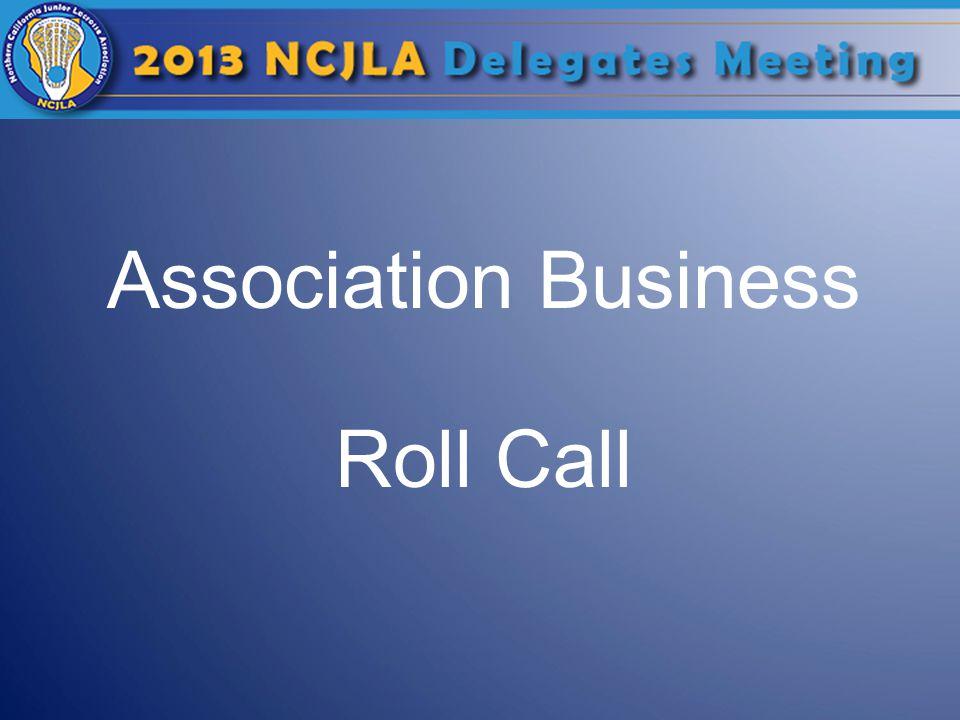 Association Business Roll Call