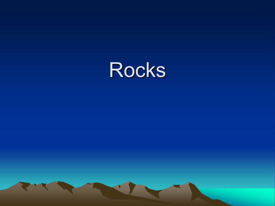 What is a Rock.Rocks are known as an aggregate of minerals.
