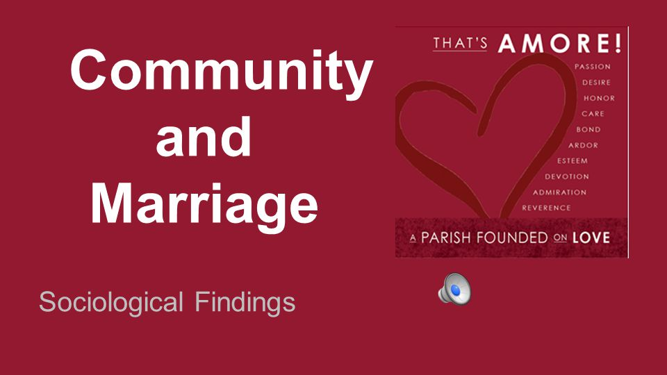 Community and Marriage Sociological Findings
