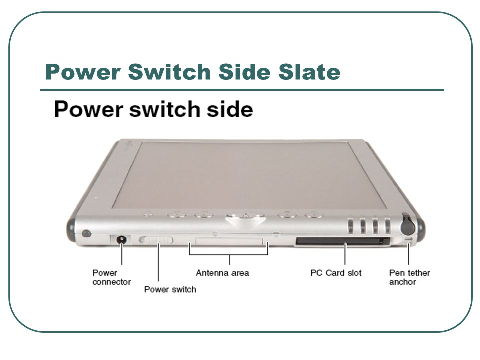 Power Switch Side Slate