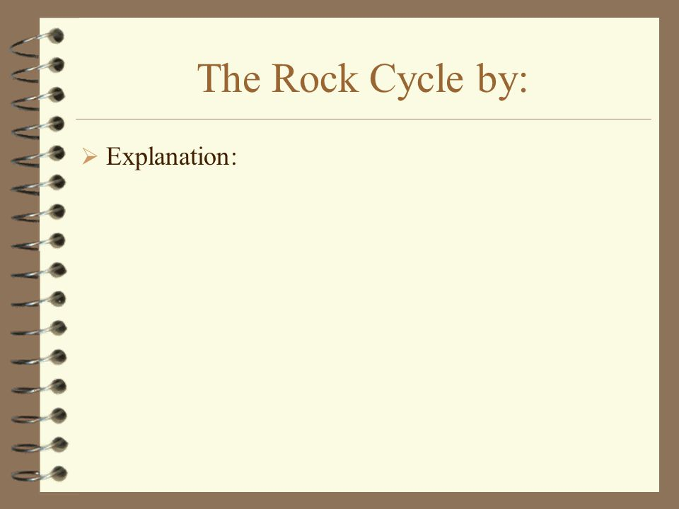 The Rock Cycle by:  Explanation: