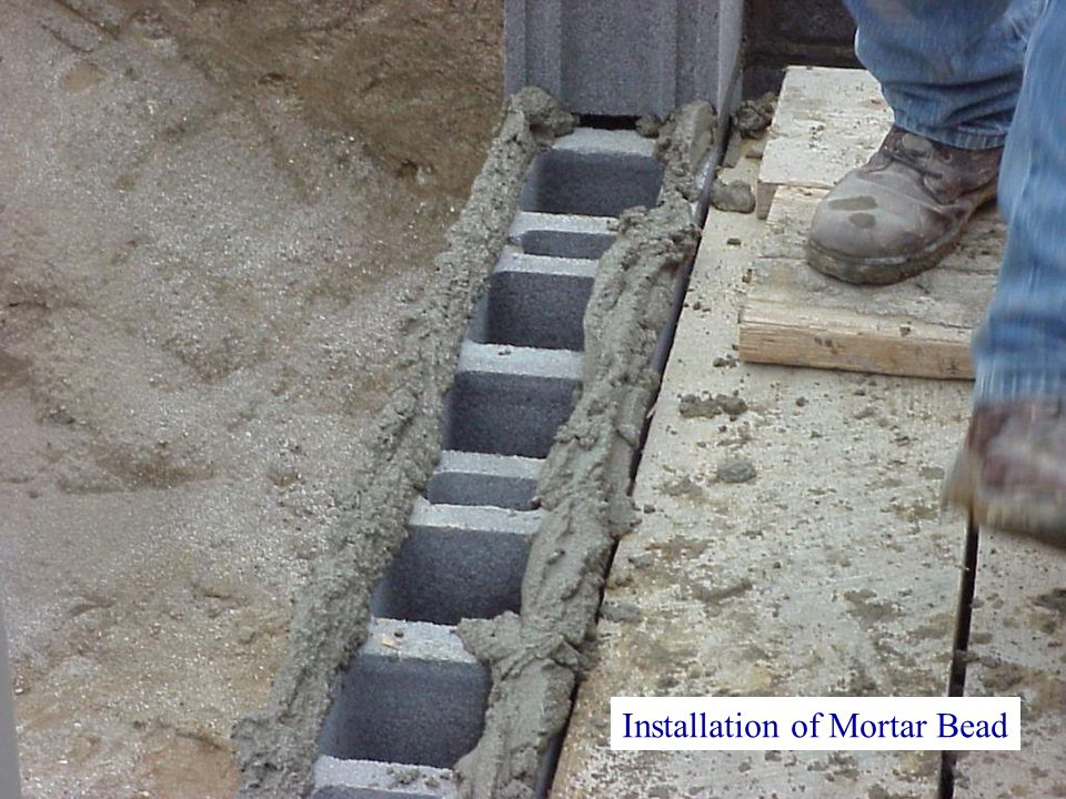 Installation of Mortar Bead