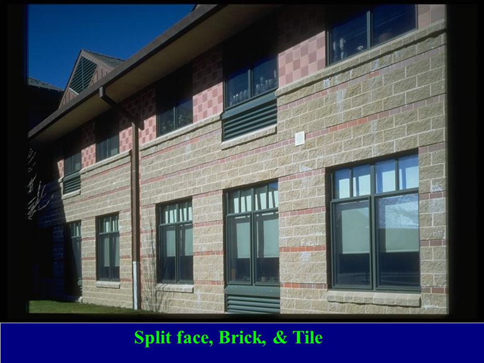 Split face, Brick, & Tile