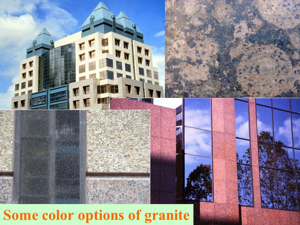 Some color options of granite