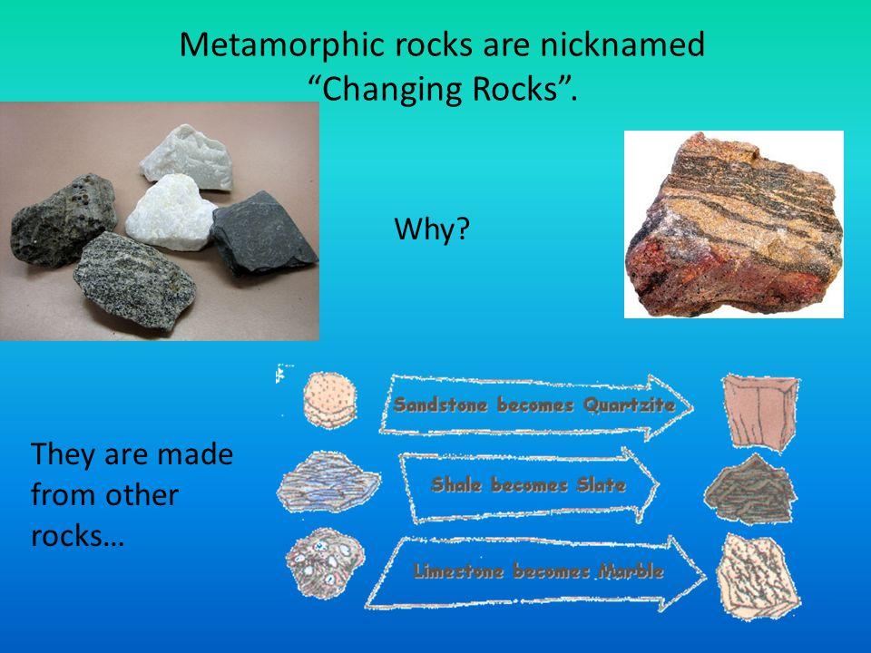 Original Rock  New Metamorphic Rock Sandstone  Quartzite When Sandstone (Sedimentary) is under extreme heat & pressure, Quartzite will form.