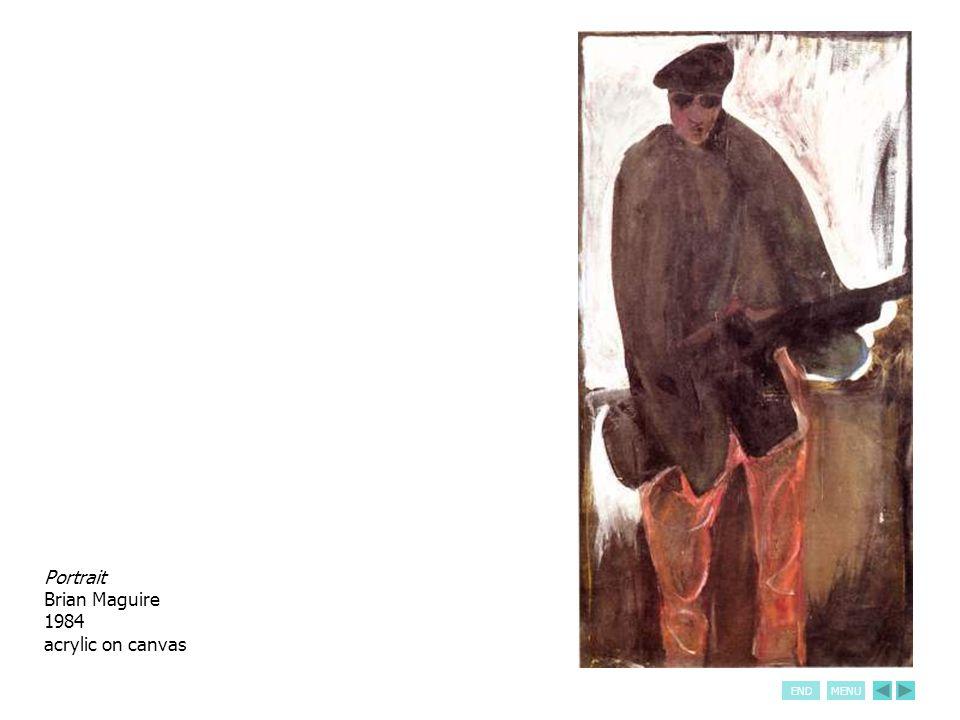 ENDMENU Roadside Assassination Brian Maguire 1983-84 acrylic on canvas