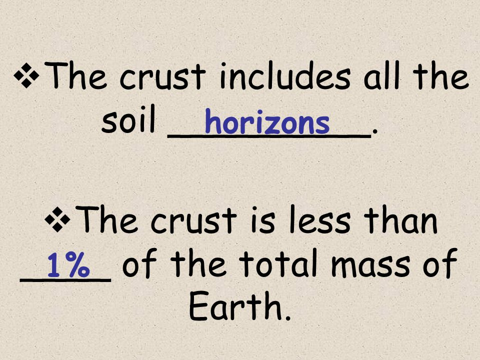  The crust includes all the soil _________.